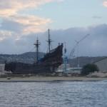 Nach Sonnenaufgang haben wir die Black Pearl entdeckt
